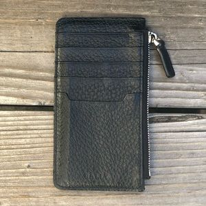 Bally Leather Zip Wallet